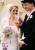 Svatební set - kytice z eustomy s převisem z kvítků hyacintu