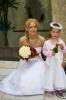 Svatební set - kytice z růží a kal ve tvaru kapky