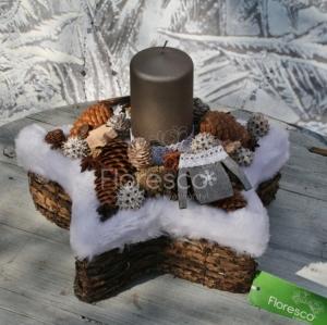 Vánoční svícen na stůl přírodní