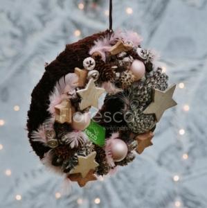 Vánoční věnec na dveře přírodní