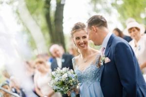 Svatební kytice na církevní obřad.