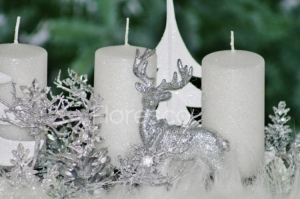 Adventní svícen bílý