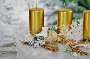 Adventní svícen zlatý