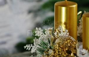 Adventní věnec zlatý