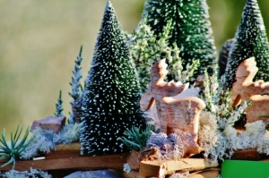 Zimní dekorace na hrob