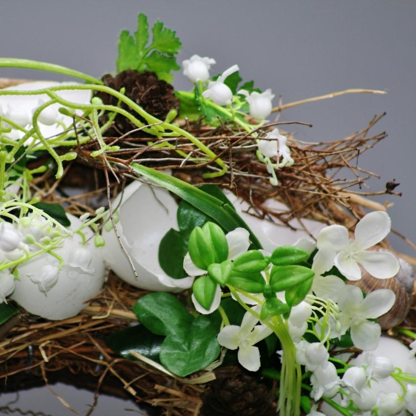 Jarní věnec na hrob