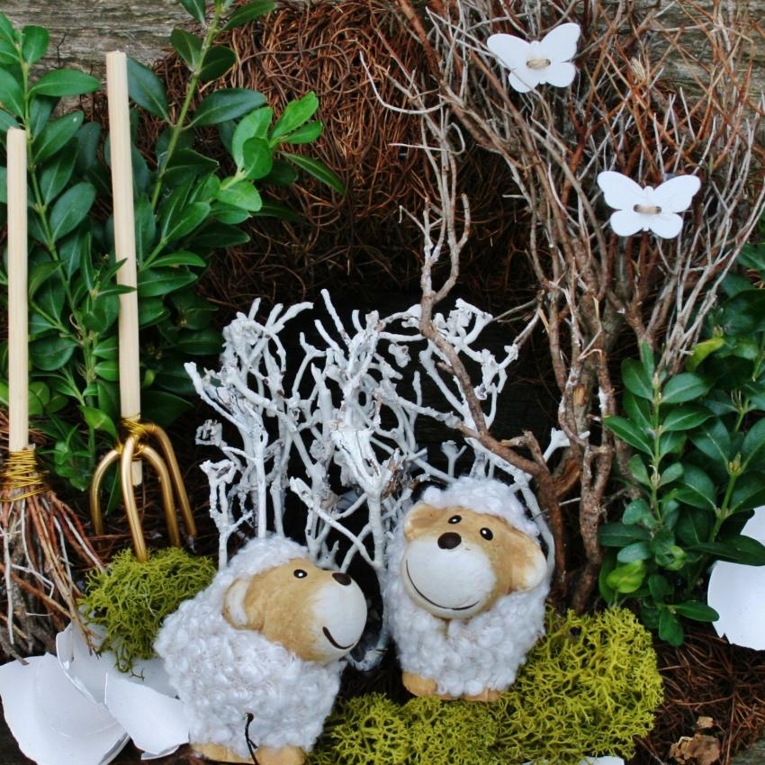 Přírodní velikonoční věnec na dveře