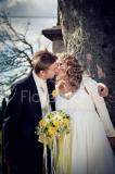 svatební kytice kulatá s heřmánkem
