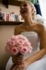 Svatební set  - kulatá svatební kytice z růží