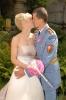 Svatební set - kulatá kytice z růží s přízdobou