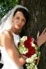Svatební set - kytice ve tvaru hroznu z růží